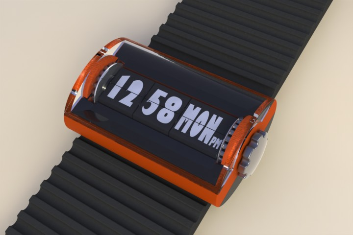 retro flip watch adds some 70s charm to your wrist tokyoflash japan