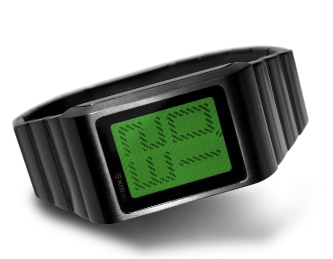 kisai_optical_illusion_touch_screen_lcd_watch_concept_to_reality_black_green