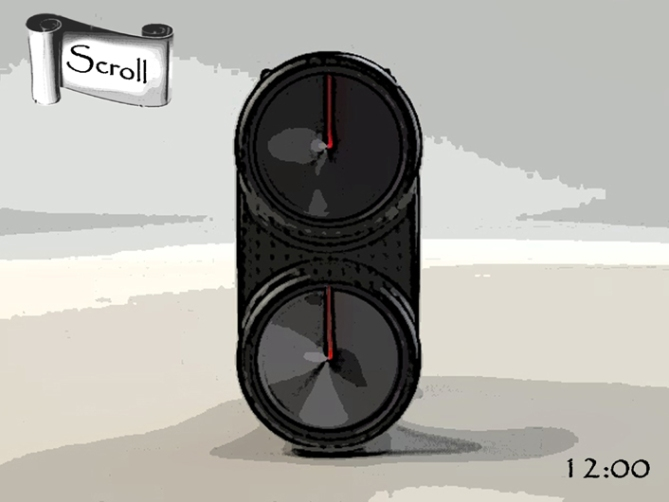 scroll_watch_design_takes_you_back_and_forward_in_time_front_view