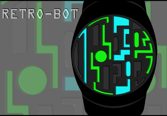 Retro-bot LED watch shows the time robo-style ...