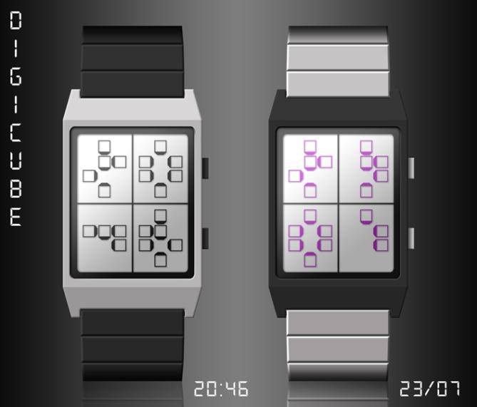 digicube_watch_design_digital_time_through_cubes_dual_color