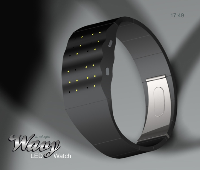 the_wavy_led_watch_embraces_an_undulating_surface_bracelet