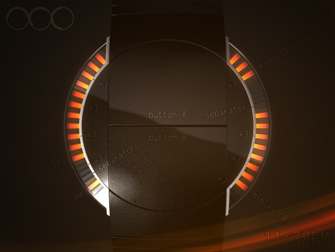 arc_watch_designed_for_futurists_red_LEDs