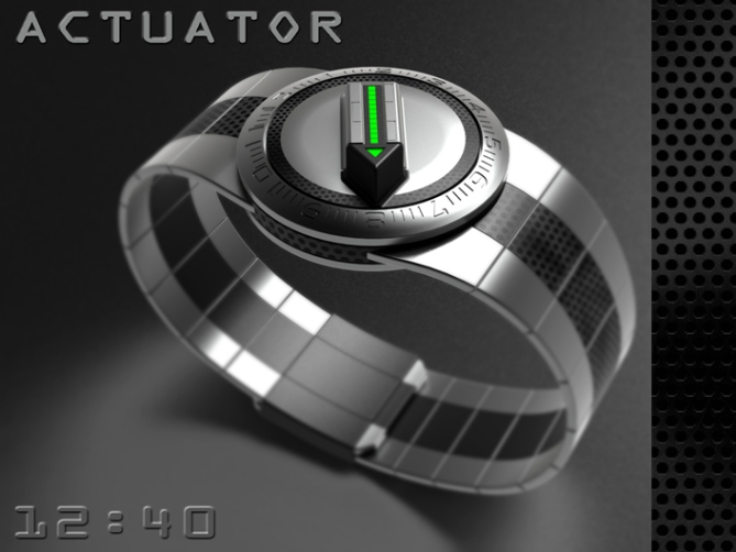 led_watch_with_user_actuation_to_reveal_time_silver_black