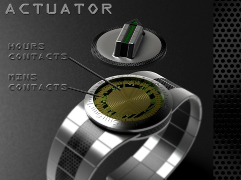 led_watch_with_user_actuation_to_reveal_time_function