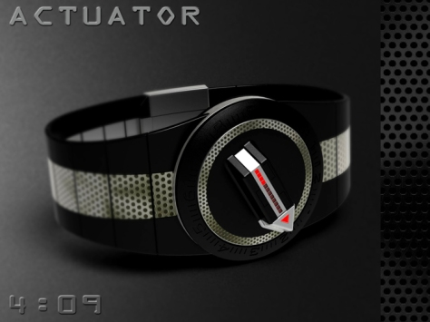 led_watch_with_user_actuation_to_reveal_time_perforated_option