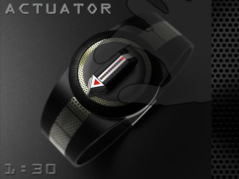 led_watch_with_user_actuation_to_reveal_time_time