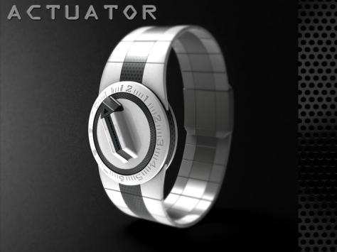 led_watch_with_user_actuation_to_reveal_time_side_profile