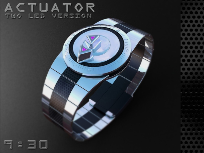 led_watch_with_user_actuation_to_reveal_time_dual_switch