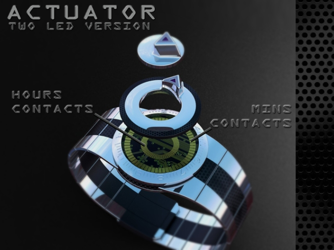 led_watch_with_user_actuation_to_reveal_time_dual_switch_function