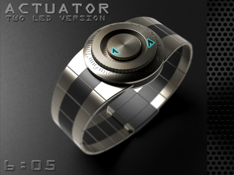 led_watch_with_user_actuation_to_reveal_time_outlook