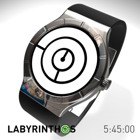 lose_yourself_with_the_labyrinth_lcd_watch_time