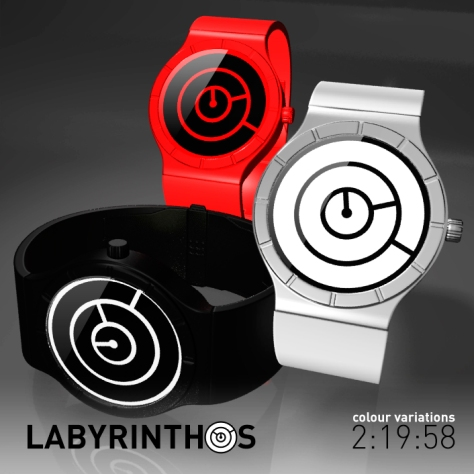 lose_yourself_with_the_labyrinth_lcd_watch_color_variations