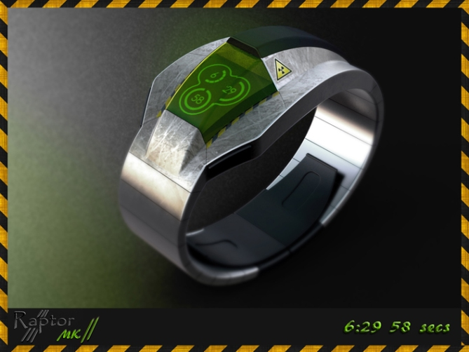 raptor_mkII_watch_design_with_spaceship_form_green