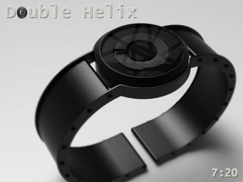 spring_washer_inspired_double_helix_watch_black_strap