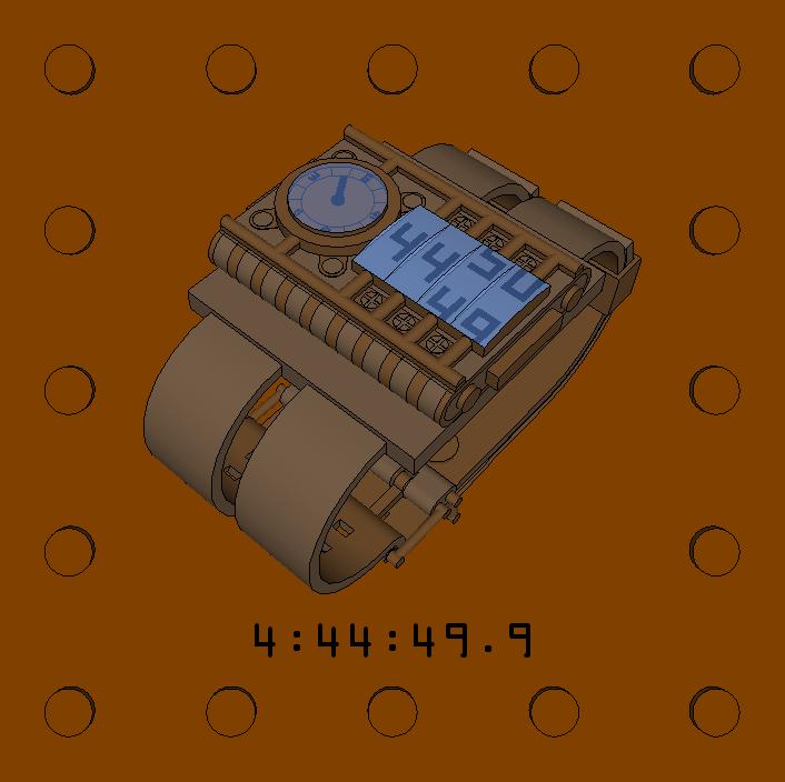3D 2-tone brown