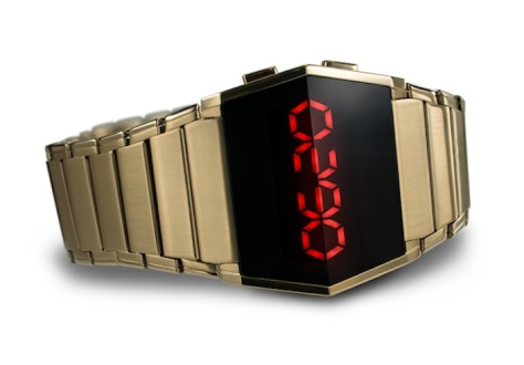 kisai_xtal_led_watch_with_six_animations_gold_red_leds