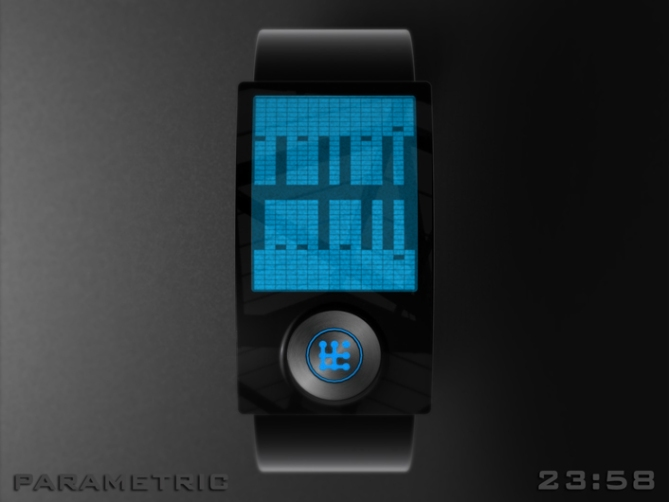 Parametric: MP3 audio watch with Graphic Equaliser